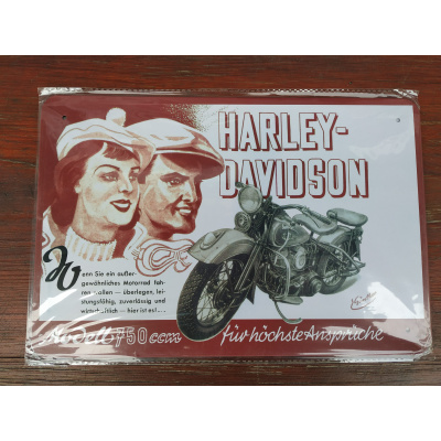 plechová tabulka Harley-Davidson