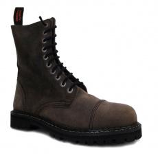 boty kožené KMM 10 dírkové olivové