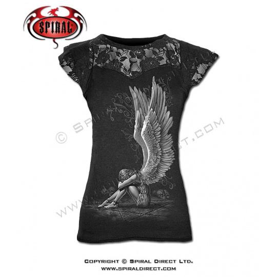 tričko s krajkami s motivem Enslaved Angel