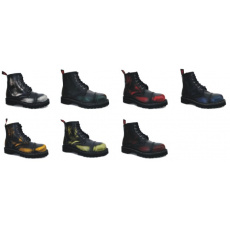 boty kožené KMM 6 dírkové stíraná barva