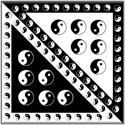 Šátek bavlna jingjang