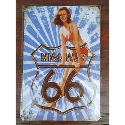 plechová tabulka HighWay 66