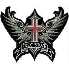 nášivka kříž free biker