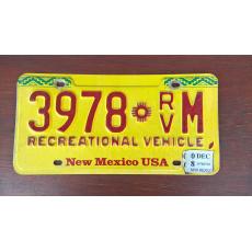 originál použitá SPZ New Mexico USA