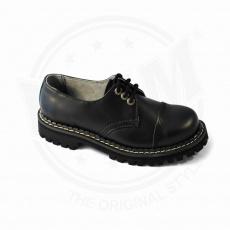 boty kožené KMM 3 dírkové černé