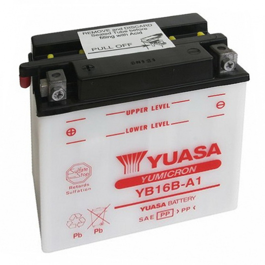 baterie údržbová YB16B-A1, 12V, 16Ah