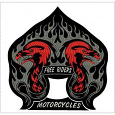nášivka free riders motorcycles
