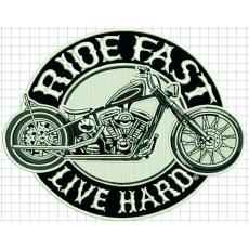 nášivka Ride fast live hard