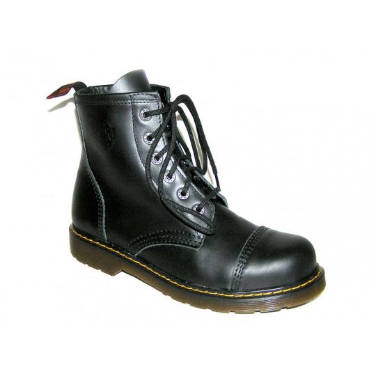 boty kožené KMM 6 dírkové bez ocelové špice
