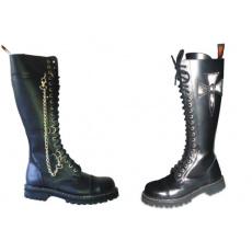 boty kožené KMM 20 dírkové zdobené