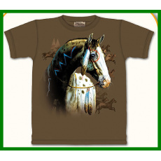 tričko s motivem painted pony