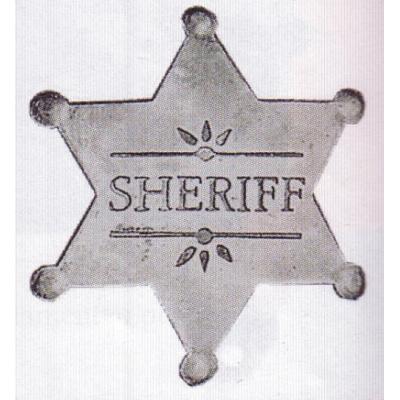 sheriffská hvězda SHERIFF starostříbrná