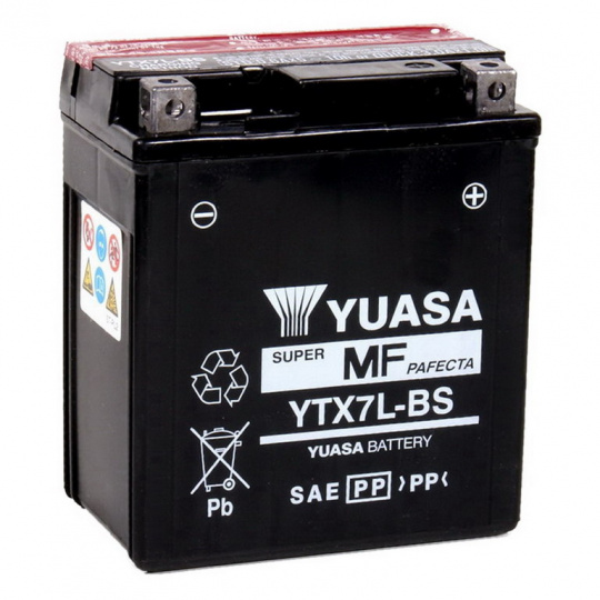 baterie bezúdržbová YTX7L-BS, 12V, 6Ah