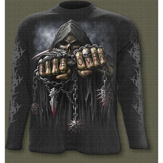tričko s dlouhým rukávem s motivem Game Over