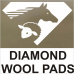 Diamond wool pad
