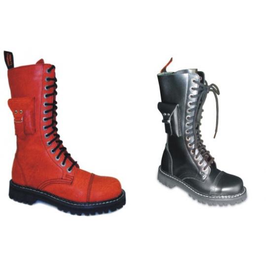 boty kožené KMM 14 dírkové s kapsičkou