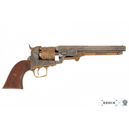 Colt revolver armádní model, zdobený