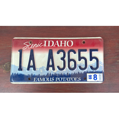 originál použitá SPZ Idaho USA