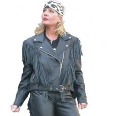 bunda dámská F-H2 kožená na chopper