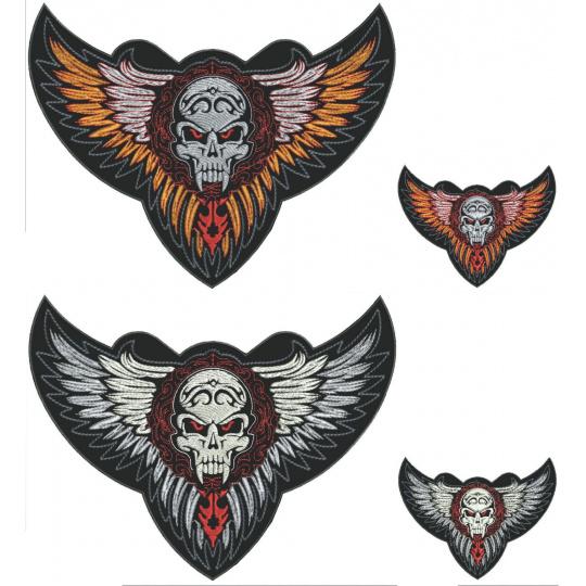 nášivka křídla s ornamentem