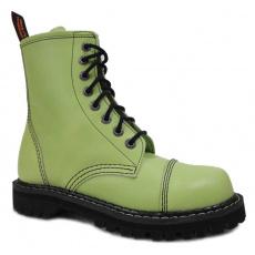 boty kožené KMM 8 dírkové zelené