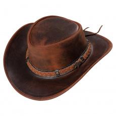 kožený westernový klobouk BUTCH