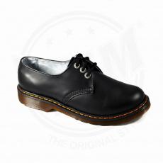 boty kožené KMM 3 dírkové černé Liquid