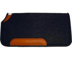 westernová podsedlová deka 100% Wool Pads with Wear Leathers