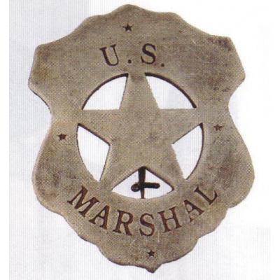 sheriffská hvězda US MARSHAL starostříbrná