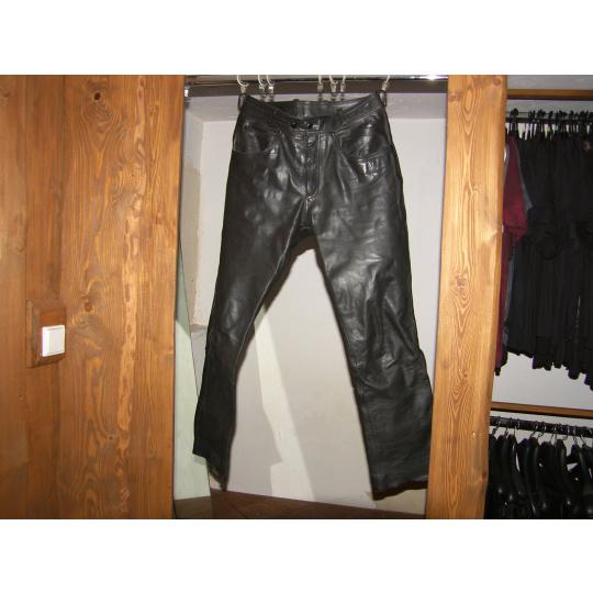 kalhoty kožené Twintek