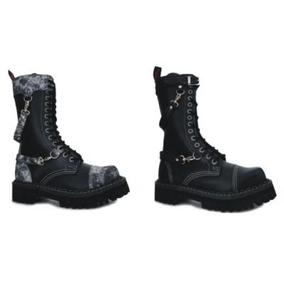 boty kožené KMM 14 dírkové s karabinou