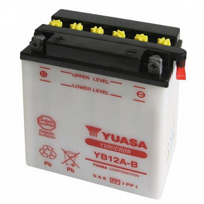 baterie údržbová YB12A-B, 12V, 12Ah