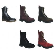 boty kožené KMM 10 dírkové bez ocelové špice