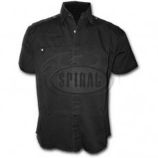 košile s krátkým rukávem černá bez potisku