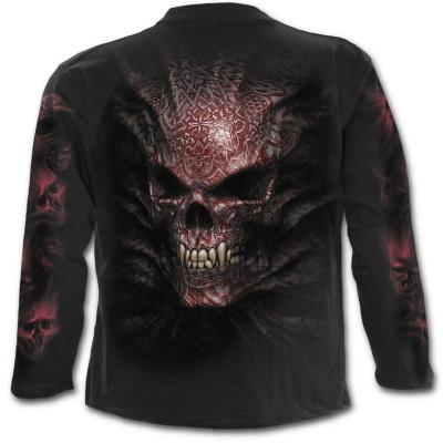 tričko s dlouhým rukávem s motivem Goth Skull