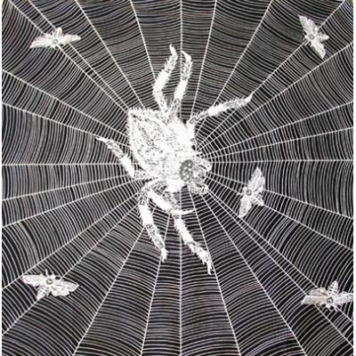 Šátek bavlna pavouk
