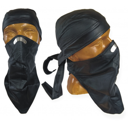 Kožený šátek na nos 1N