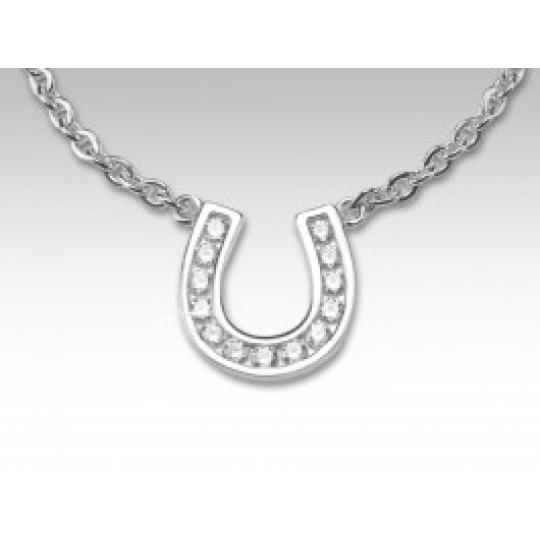 náhrdelník podkova s bílými zirkony SWAROVSKI