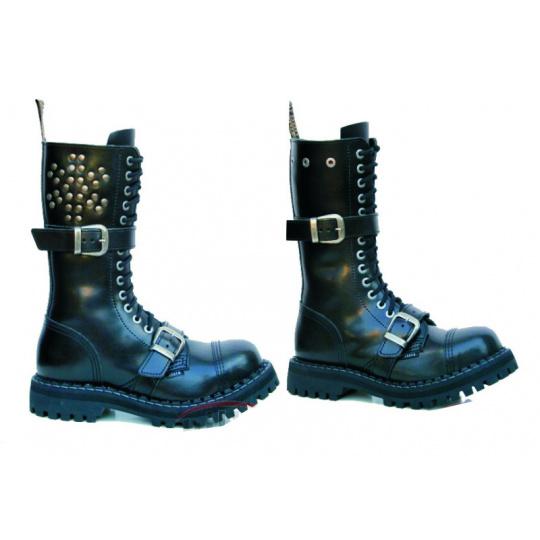boty Steel 15 dírkové s přezkama