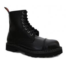 boty kožené KMM 8 dírkové černé