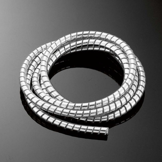 Chromový kryt kabelů/lanek, PVC