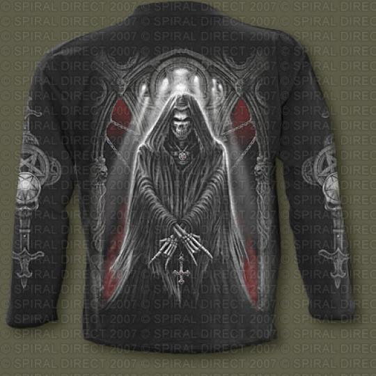 tričko s dlouhým rukávem s motivem Church Of Goth