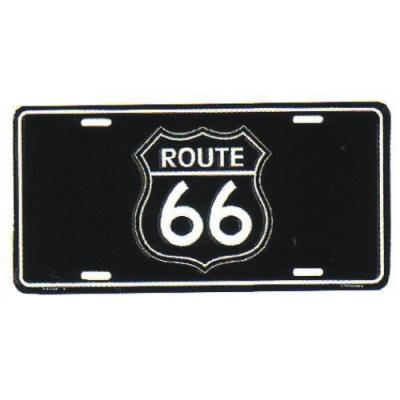 hliníková značka USA ROUTE 66 černá