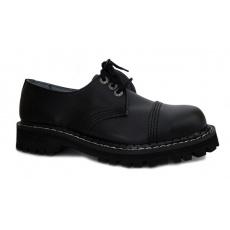 boty kožené KMM 3 dírkové jednobarevné