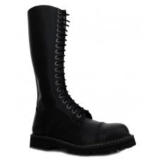 boty kožené KMM 20 dírkové černé