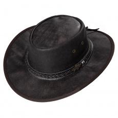 kožený westernový klobouk BLAKE