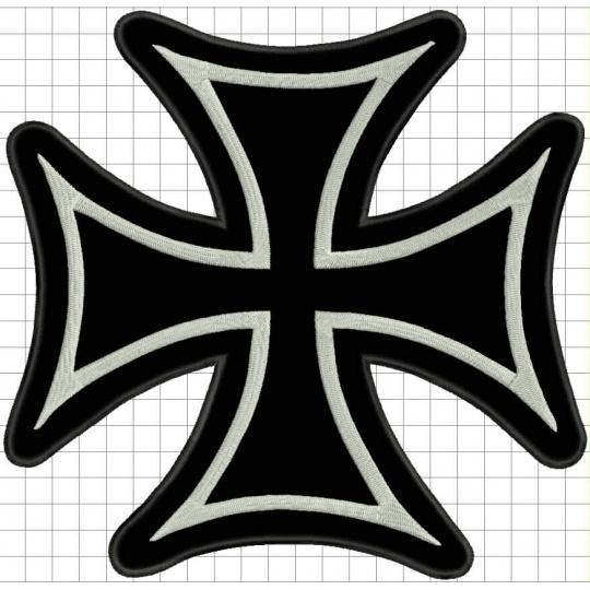 nášivka kříž černý