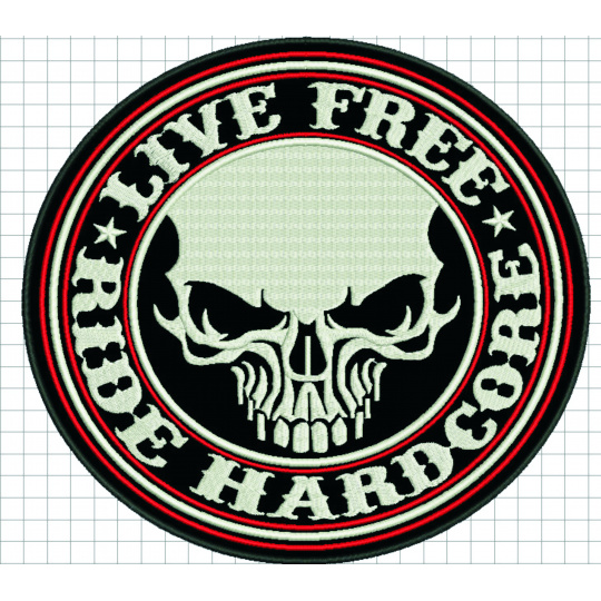 nášivka Live free ride hardcore