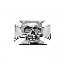 Emblém samolepící lebka v kříži