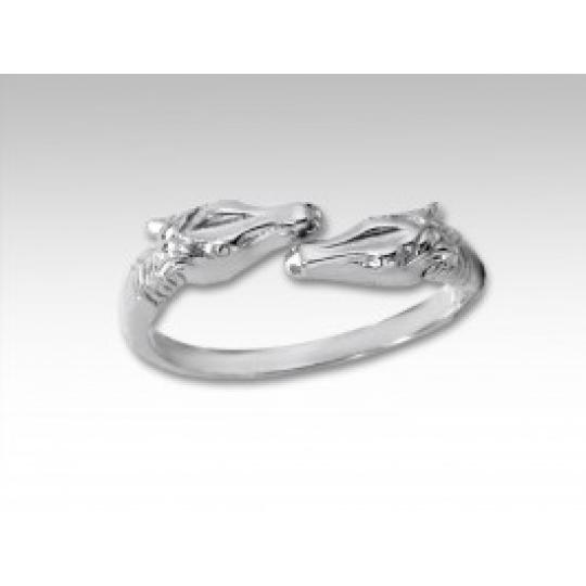 prsten dvě hlavy koně